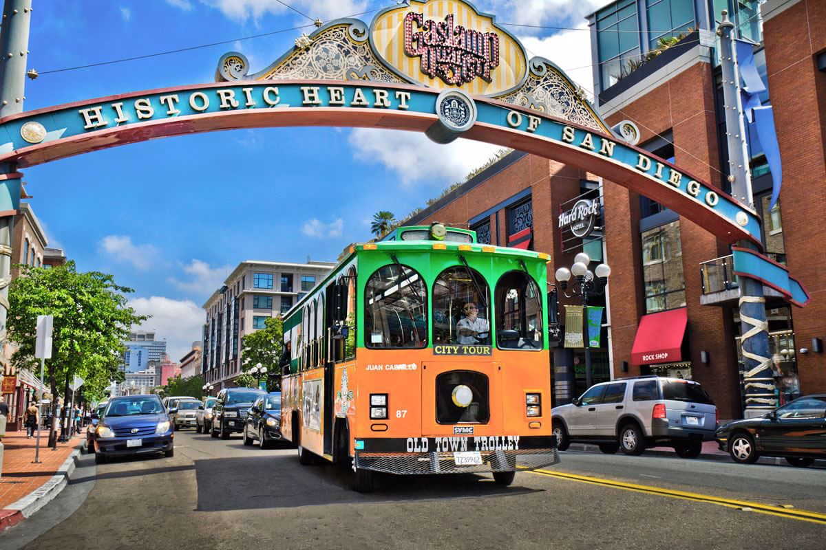 Old Town Trolley San Diego City Lights Night