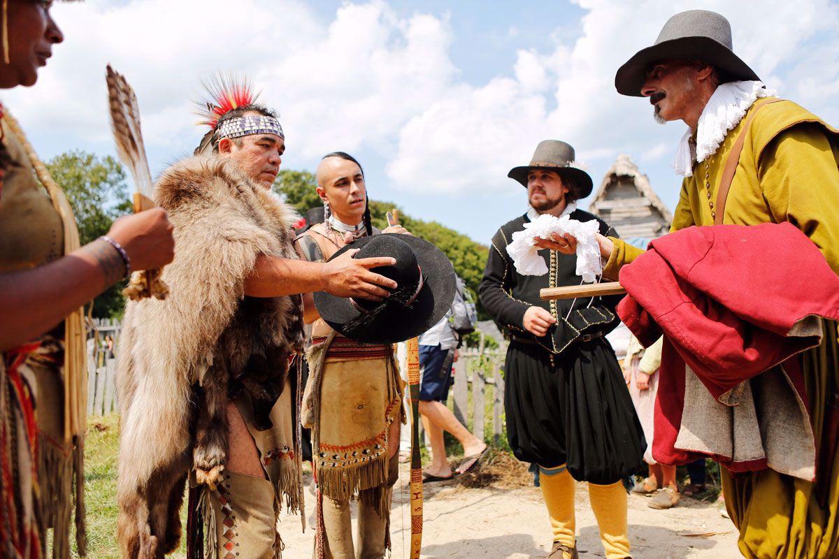 Native interaction at Bradford-wedding