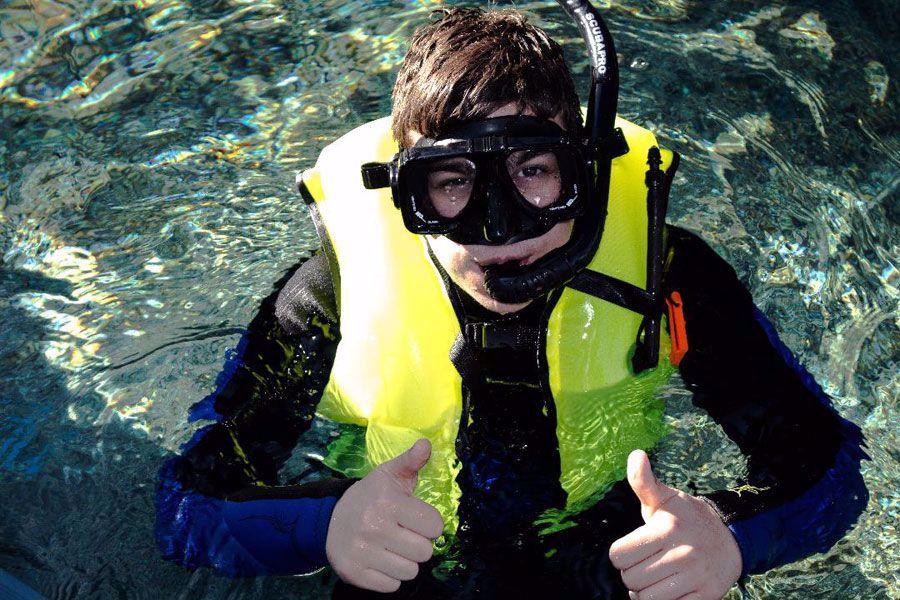 Snorkel in 80,000 gallon Florida reef habitat