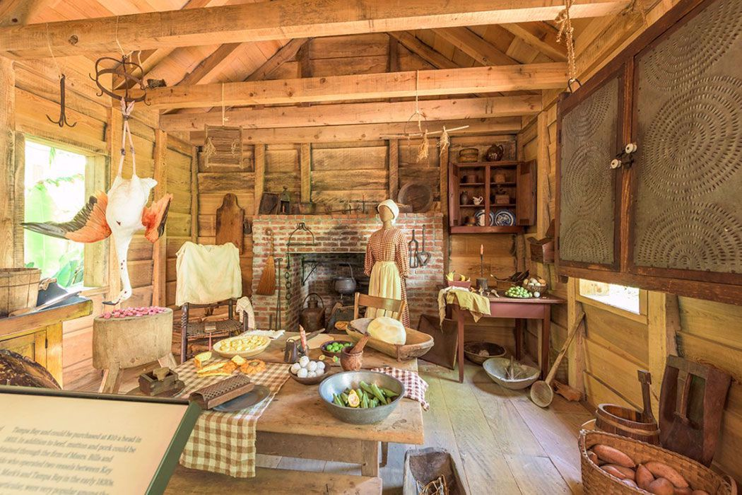 Outdoor kitchens were common mid 19th century
