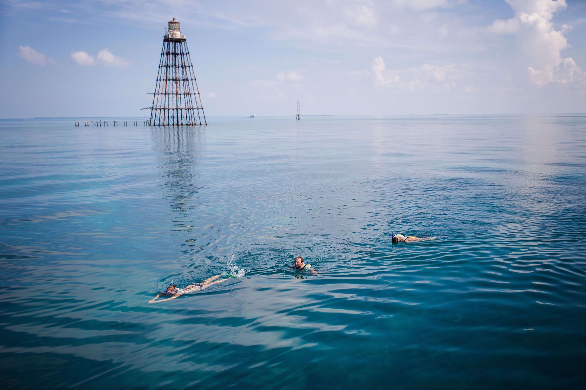 Key West's beautiful clear, tropical waters