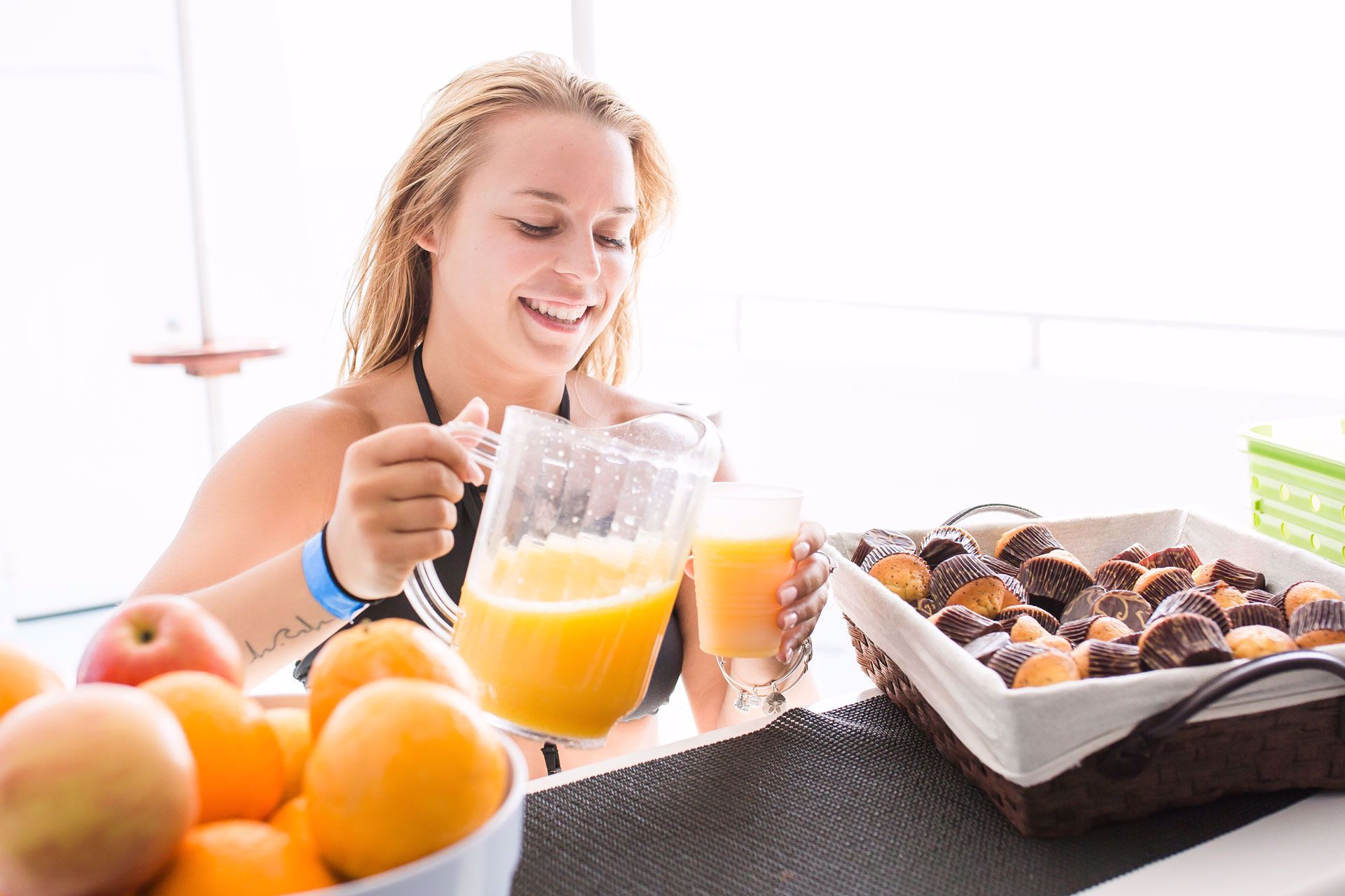 Enjoy a complimentary light breakfast
